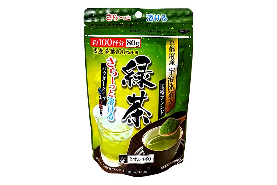 インスタント さらっと溶ける 宇治抹茶入り緑茶