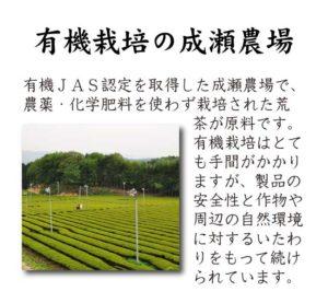 成瀬三郎さんの有機栽培茶
